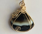 Natural Banded Onyx Pendant