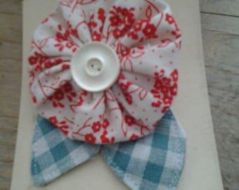 hand made fabric brooch