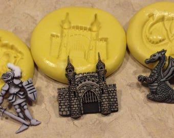 Knight Dragon Castle Set Silicone mold