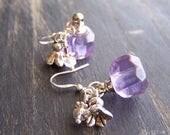 Spring Sale Clearance - Essential Oil Purple Flower Earrings
