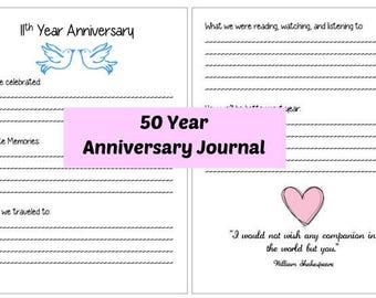 Anniversary Journal 50 Years