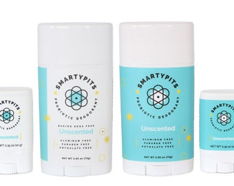Deodorant: Natural, Probiotic-Infused, and Aluminum-Free [UNSCENTED]