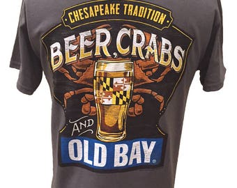 Chesapeake Tridition Beer Crabs and Old Bay T-Shirt