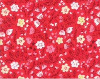 Toss the Garden Red cotton fabric,  Just Another Walk in the Woods by Moda