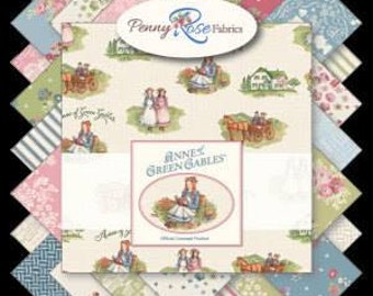 "Anne of Green Gables Licensed Fabric by Penny Rose Fabrics, Bundle of 30 Fat Quarters 18"" x 22"""