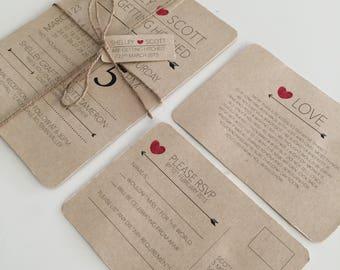 Wedding Invitation |Printable Wedding Invitation Set | Wedding Invite | Printable Wedding Invite | Vintage calendar design
