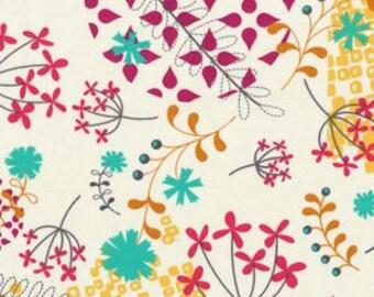 Fat Quarter_ Rashida Coleman Hale Washi Floral Fabric in Cream FQ OOP HTF