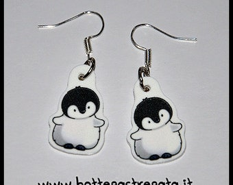 Earrings cute cartoon animals Penguins