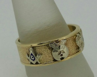 Masonic Wedding Band