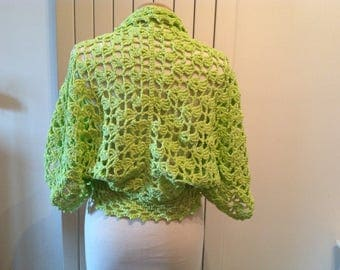 100% cotton crochet lace Bolero