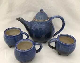 Mad hatter teapot set