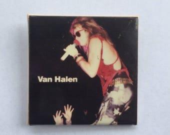 Van Halen Original 1980s Vintage Dead Stock Square Pin