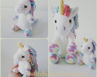 SWC Mini - Lavender Unicorn Crochet Pattern - SWC Minis Collection - Amigurumi PDF Instant Download (MIni Unicorn Only)