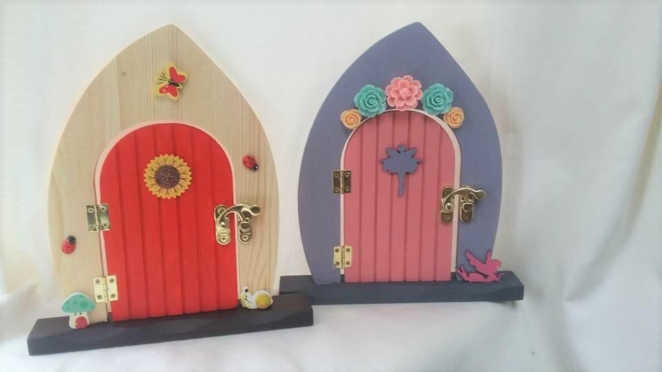 Freestanding fairy door wooden fairy door christmas door for Wooden fairy doors that open