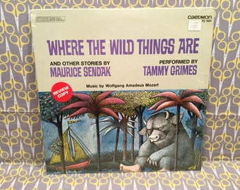 Sealed Where the Wild Things Are by Maurice Sendak Vinyl Record Album LP read by Tammy Grimes on Caedmon