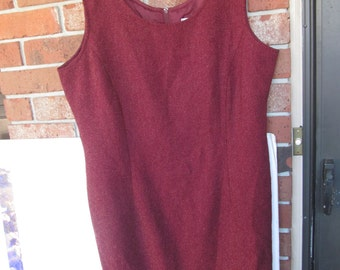 Woman  Dress Burgundy - Maroon - Sleeveless  - size 16 Tall