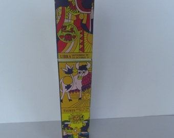 Vintage Fire Place Matches  11'' tall - long -Vintage Advertising - Zodiac Signs - Collectables
