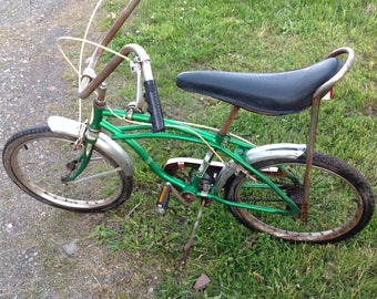 Western Flyer Buzz Bike 3 lll sting ray three speed bicycle vintage bmx/6 certified banana seat for restore