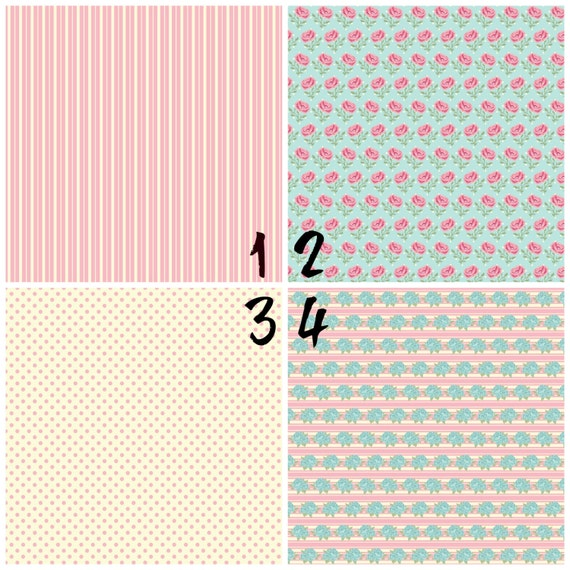 Shabby Chic, Roses, Flowers, Stripes, Antique Adhesive 651 Vinyl, HTV or Glitter HTV. Choice of 3 sizes. 6x6, 6x12 or 12x12. Decals HTV