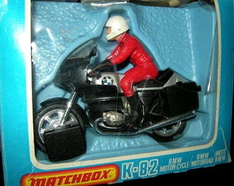 1980 Matchbox Superkings BMW Motorcycle Figure Driver K-82 in Original Box