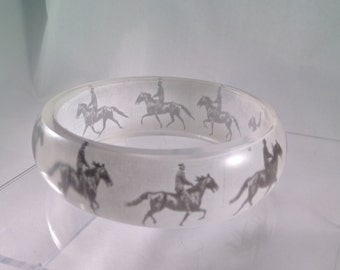Eadweard Muybridge's study of Horse Locomotion translucent resin bangle bracelet