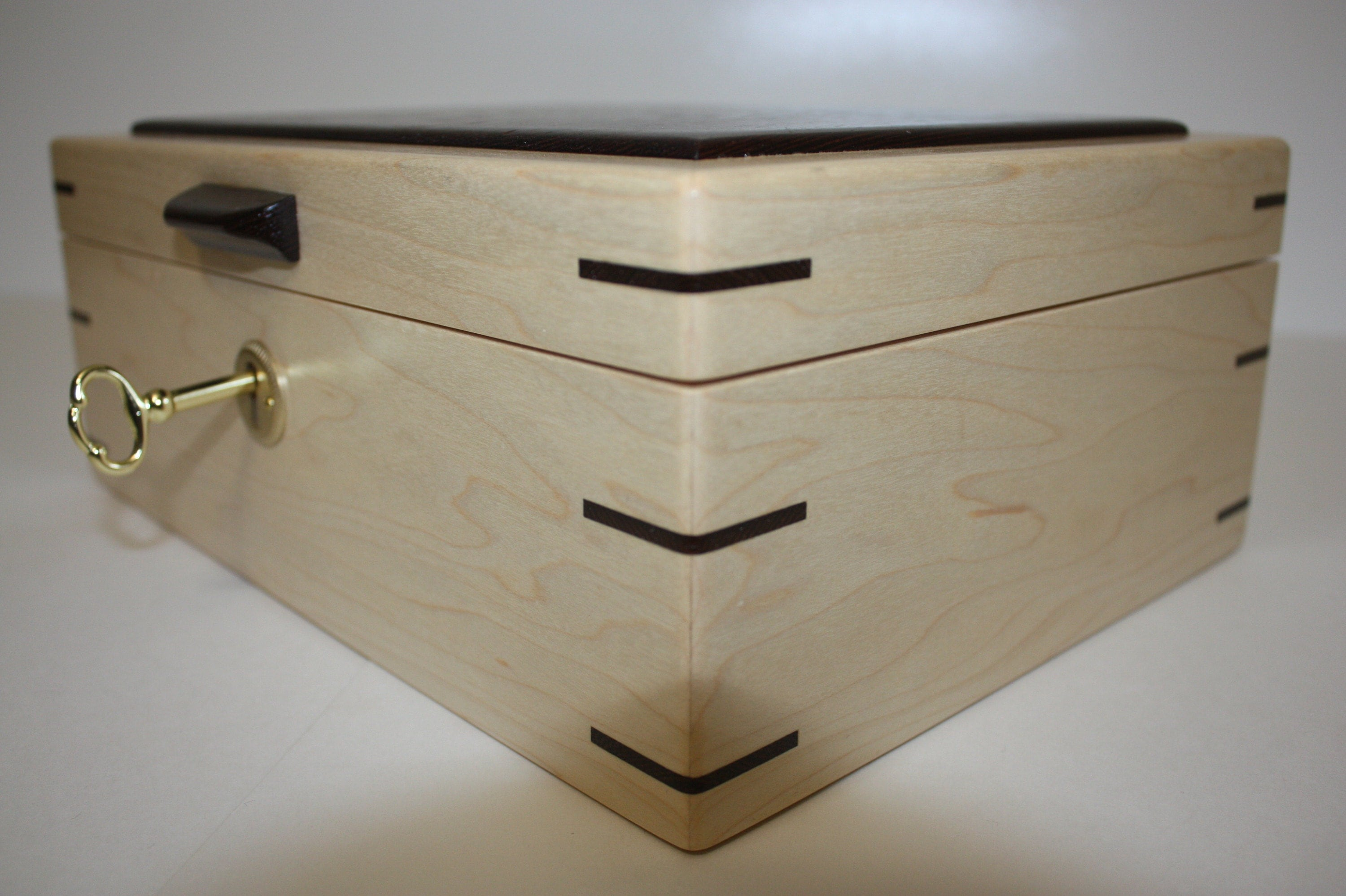 Handcrafted Maple Box with Lock