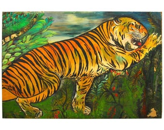 "Ursula Barnes ""Tiger"" Painting, 1930"