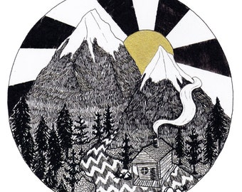Limited Edition Mountain Forest Print