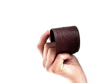 Dark Brown leather cuff bracelet. Leather cuff for him and her. Mens leather cuff. Leather bracelet. Leather brown bracelet. Leather jewelry