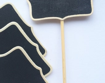 10 Chalkboard Blackboard Tags Price Tags Place Cards 8cm