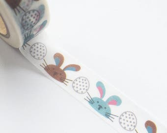 Easter Bunny Eggs Washi Tape 15mm x 10m