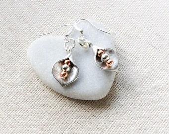 Silver wedding earrings, wedding jewellery for bride, bridesmaids gifts, anniversary gift for her, simple earrings, elegant earrings,