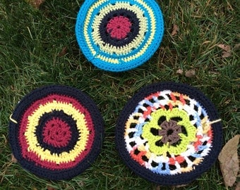 Crocheted Frisbee/Ultimate Frisbee/Knit Frisbee/Summer toy/pool toy/knit dog toy/flying disc/knit frisbee/knitted frisbee