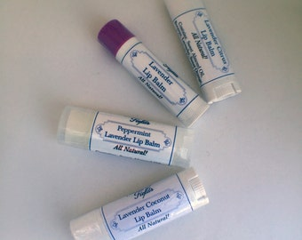 Beeswax Lip Balm - Natural Lip Balm - Lavender Lip Balm - Natural Skincare - Moisturizing Lip Balm