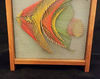 Pineapple string art home decor sign hawaiian themed home for Fish string art