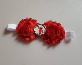 Elmo Shabby Flower Bottlecap Headband