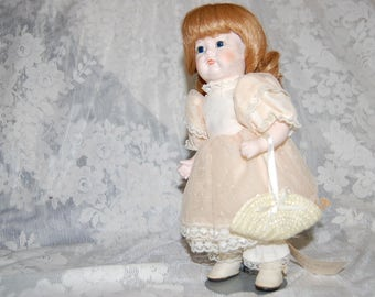 Porcelain Gorham November Doll of the month Beautiful Colors 10""