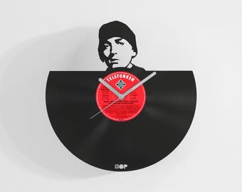 Eminem wall clock from upcycled vinyl record (LP) | Hand-made gift for Eminem fan | Rap home wall decoration, Eminem lover present