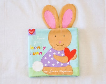 I Love You Honey Bunny Quiet Book   Huggable & Loveable