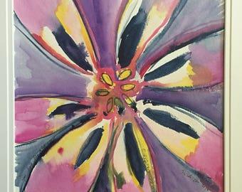 "Original Watercolor Tulip Painting ""You Have Beautiful Eyes"""