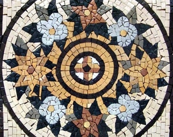 Yellow Chrysanthemum Mosaic Flower