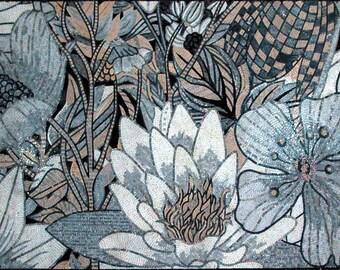 White Lotus Flower Mosaic Art