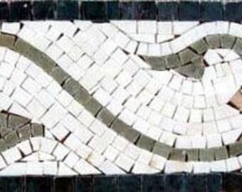 Floral Marble Mosaic Listellos