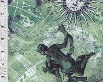 """Fabri Quilt New Dawn """"Aquarius"""" Horoscope Fabric"""