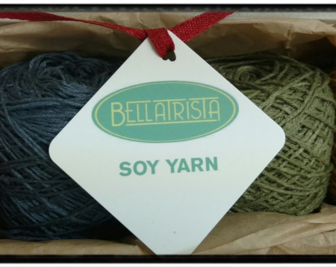 Soy Yarn Sampler - fingering weight, assorted colors