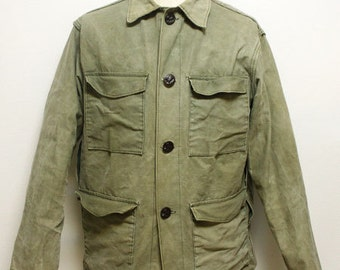 60's animal button french hunting jacket