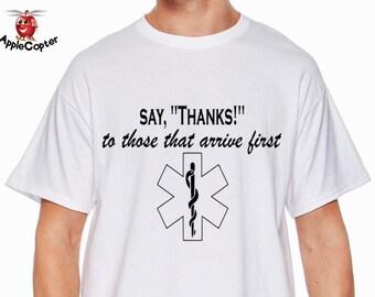 EMT Shirt, Star Of Life, First Responders Shirt, Paramedic Shirt, Emergency Medical Technician, Ladies EMT Shirt, EMS Shirt, AppleCopter