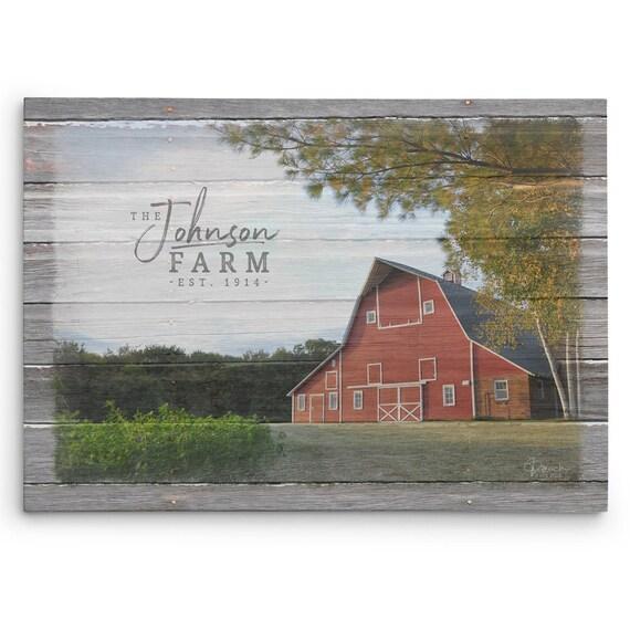 Personalized Farm Name Sign Custom Gift For Farmer Your Farm