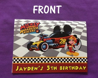 Personalized Mickey and the Roadster Racers Coloring Books, Party Favors