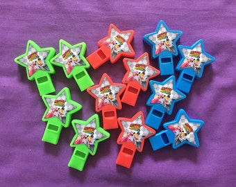 12 Mickey and the Roadster Racers Star-shaped whistles